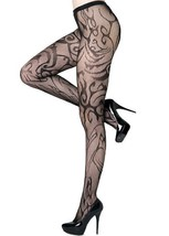 Fashion Mic Women's Blazing Flames Fishnet Pantyhose Regular and Queen - €12,23 EUR