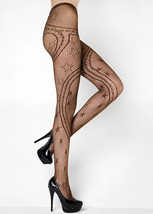 Fashion Mic Women's Stars Swirling Ribbons  Fishnet Pantyhose Regular an... - €12,23 EUR