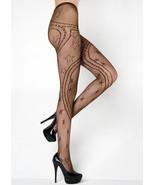 Fashion Mic Women's Stars Swirling Ribbons  Fishnet Pantyhose Regular an... - $13.85