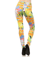 Lady's The Blossom Solarized Flower Fashion Legging - $15.83