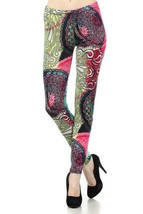 Lady's Creation Life Cycles in Purple Fashion Printed Legging - $15.83