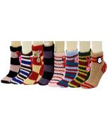 Fashion Mic Childrens 6 Pair Flowers Ball Tassels Slipper Socks Size L - $8.90