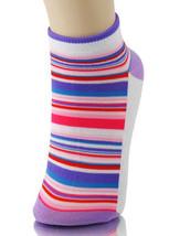Fashion Mic Women's Stripe Panel Low Cut Socks-Size 9-11- 1 Pair - $1.97