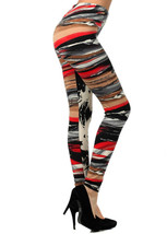 Fashion Mic Women's Two-Tone Splatt Paint Strokes Printed Legging - $8.90