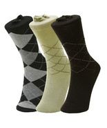 Fashion Mic Men's Plaid Argyle Dress Socks 6 Pairs - $12.86