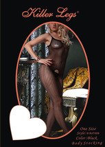 Fashion Mic Women's Spaghetti Straps and Floral Design Fishnet Body Stocking image 2