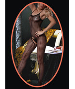 Fashion Mic Women's Spaghetti Straps and Floral Design Fishnet Body Stoc... - $12.86