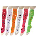 Fashion Mic Women's 6 Pair Cute Design Knee High Socks - $12.86