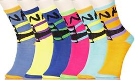 Fashion Mic Womens 6 Pairs Assorted Punk Style Crew Socks - $9.89