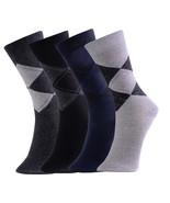 Fashion Mic Mens Cotton Blended Dress Socks 4 Pairs Size 10-13 - $9.89