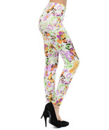 Fashion Mic Women's Casual or Dressy Butterfly and Flower Printed Legging - $15.83