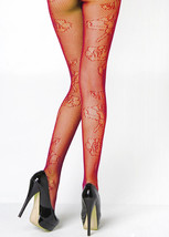 Fashion Mic Women's Rose Outline Fishnet Pantyhose Regular and Queen - €11,77 EUR