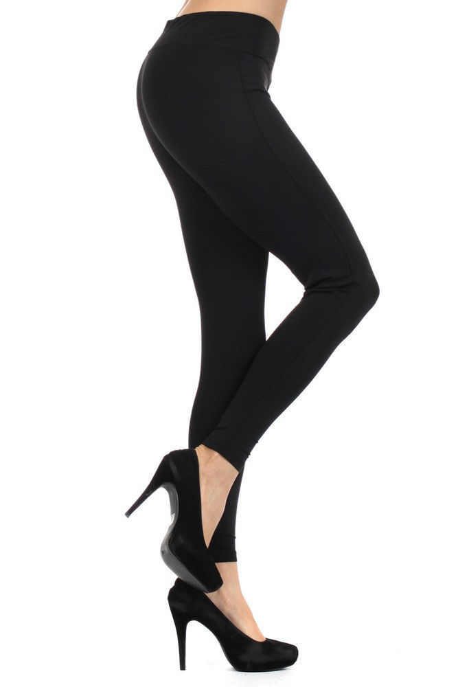 Primary image for Fashion Mic Women's Solid Color with Mini Logo Leggings