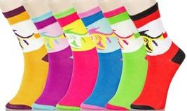 Fashion Mic Womens 6 Pairs Assorted  Sea Novelty Crew Socks -Size 9-11 - $9.89