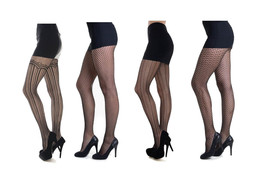 Fashion Mic Women's Abstract Geometric Black Fishnet Stockings - €6,11 EUR+