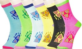 Fashion Mic Womens 6 Pairs Trifecta Novelty Crew Socks Size 9-11 - $7.91