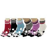 Fashion Mic Womens 6 Pairs Assorted Panda Bear Knitted Non Skid  Socks - $22.76