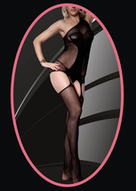 Fashion Mic Women's One Shoulder Strap Lace Suspender Full Body Stocking - €11,35 EUR