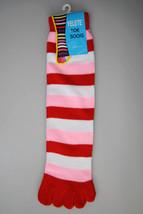 Fashion Mic Women's Stripe Pattern Fashion Fun Toe Socks - Dozen Pack - $18.80
