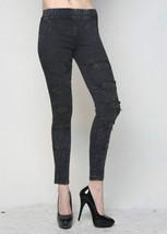 Fashion Mic Women's Ripped Jean Look Pants - $39.59