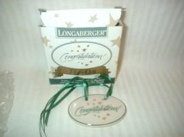 Longaberger Congratulations Tie On NIB Pottery ... - $12.86