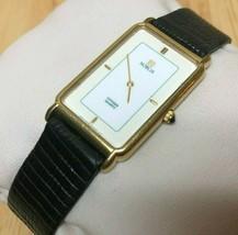 Vintage Noblia By Citizen Men Gold Plated Thin Analog Quartz Watch Hour~... - $36.09