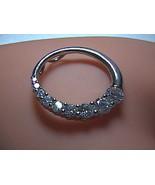 Sterling Silver Kiera Sleek CZ Slider Ring Pendant - $20.00