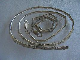 Vintage Sterling Silver Greek Designed Necklace Bracelet Set 26.0 grams - $65.00