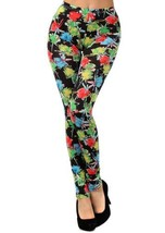 Multi Floral Print Leggings (one size, Rose Buds) [Apparel] - $15.83