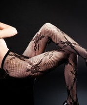 The Rosaceae Fashion Designed Queen Plus Size Fishnet Tights (Queen) [Ap... - $9.89