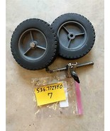 Craftsman Gas Walk Behind Edger REAR WHEELS+PARTS Model #536772340 Used ... - $24.70