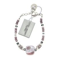 Bracelet Antica Murrina Venezia with Murano Glass Blue Purple Silver BR7... - $768,65 MXN