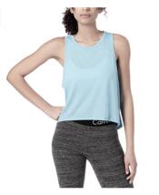 Calvin Klein Women's Performance Epic Knit High-Low Tank Top in Light Blue, XL - $17.81