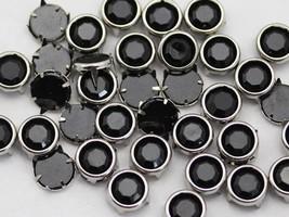 5mm Jet Black CH37 Preset Rhinestones - 100 Pieces [Kitchen] - $4.98