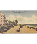"MC Linen PC ""Sun, Sand and Surf on Tropical Ft. Lauderdale Beach, Fla."" ... - $4.31"