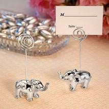 1 Silver Finish Elephant Place Card Holder Wedding Reception Favor Birthday - $2.58