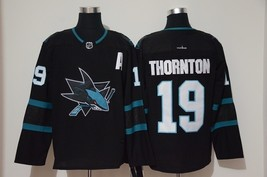Men's  Classic San Jose Sharks 19 Joe Thornton Ice Hockey Jersey Black - $58.98