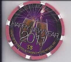 $5 HARD ROCK HOTEL Vegas Chip Happy New Year 2011 - $8.95