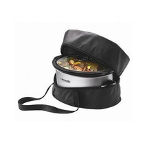 Crock Pot Traveler Bag Case Slow Cooker Insulated Carrying Oval Carry Bl... - $538,12 MXN