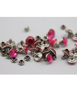 5mm Hot Pink H114Acrylic Rhinestone Rivets For Garments - 25 Pieces [Kit... - $5.65