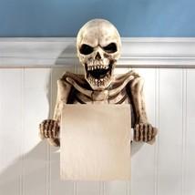 Bathroom Toilet Paper Holder Bone Dry Skeleton Halloween Or Everyday Dec... - $44.54