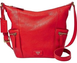 New Fossil Emerson Women Small Hobo Crossbody Bags Variety Colors - $117.60+