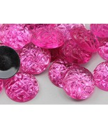18mm Pink Hot .NAP01 Flat Back Acrylic Baroque Cabochons High Quality Pr... - $4.90