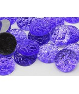 18mm Violet .VT Flat Back Acrylic Baroque Cabochons High Quality Pro Gra... - $4.90