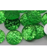 18mm Peridot .PD2 Flat Back Acrylic Baroque Cabochons High Quality Pro G... - $4.90