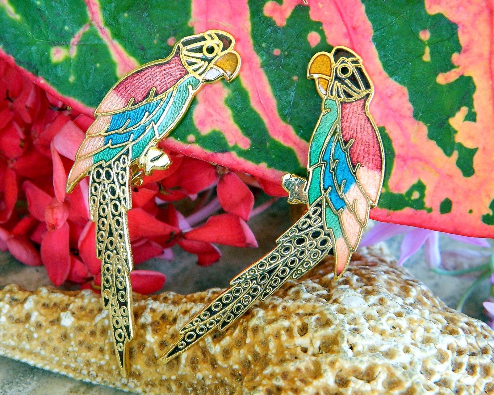 Vintage Parrot Macaw Bird Cloisonne Enamel and 50 similar items