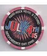 $5 HARD ROCK HOTEL VEGAS Casino Chip INDEPENDENCE DAY 2006 - $9.95