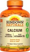 Sundown Naturals Calcium 1200 Plus Vitamin D3 1000 IU, 170 Liquid Filled Softgel - $45.77