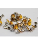 7mm Topaz H107 Acrylic Rhinestone Rivets For Garments - 25 Pieces [Kitchen] - $5.91