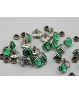 7mm Peridot H110 Acrylic Rhinestone Rivets For Garments - 25 Pieces [Kit... - $5.91